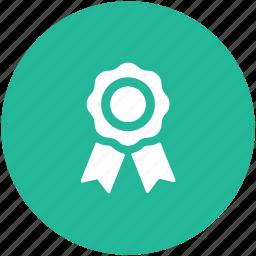 award, prize, reward, ribbon award, ribbon badge icon
