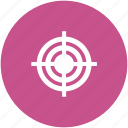 archery, crosshair, dartboard, goal, target, target board icon