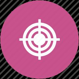 archery, crosshair, dartboard, goal, target, target board icon