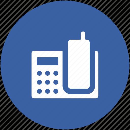 landline, phone, telecommunication, telephone, telephone set icon