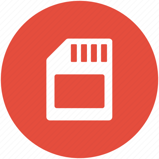 chip, memory card, phone card, sd card, storage device icon