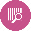barcode, barcode search, magnifying lens, searching, verification, verify