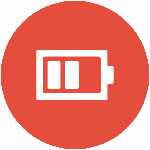 battery, battery level, battery status, half battery, mobile battery icon