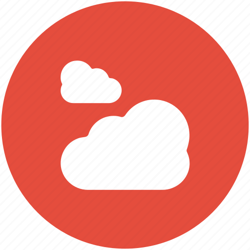 clouds, cloudy day, forecast, puffy clouds, weather icon