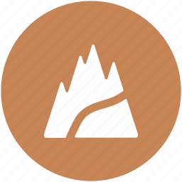 hill station, landscape, mountain, nature view, rocks icon