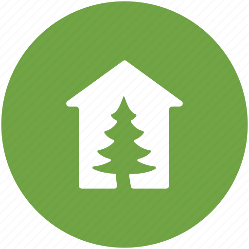 fir tree, forest, glasshouse, greenhouse, pine tree icon