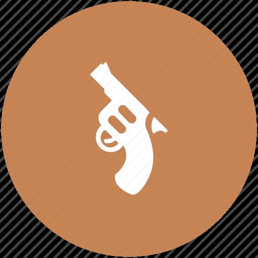 gun, hand gun, pistol, revolver, weapon icon