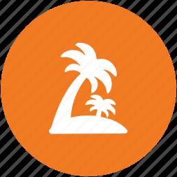 arecaceae, beach, date tree, island, palm, palm tree, tropical tree icon