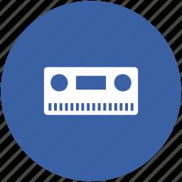 audio cassette, cassette, cassette tape, compact cassette, music tape icon