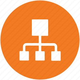 hierarchical structure, hierarchy, networking, server, server connection icon