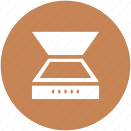 computer scanner, image scanner, optical scanner, scanner, scanning device icon