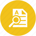 searching tool, magnifying lense, document, sheet, searching document
