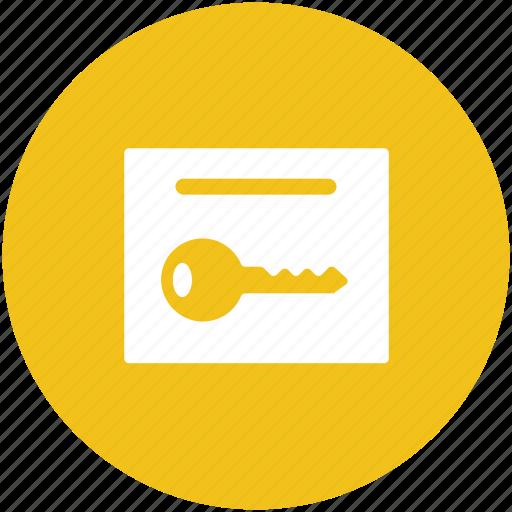 key, lock key, protection, room key, safety, security icon