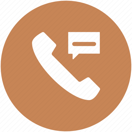 call, phone call, phone communication, phone receiver, speech bubble, telecommunication icon