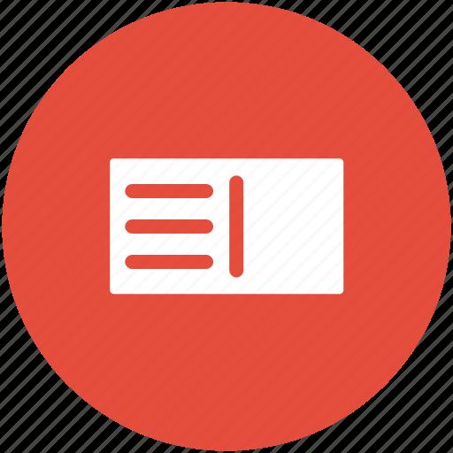 bill, invoice, pass, receipt, slip, voucher icon