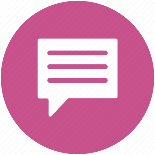 chat bubble, chatting, comment bubble, message, speech balloon, speech bubble icon