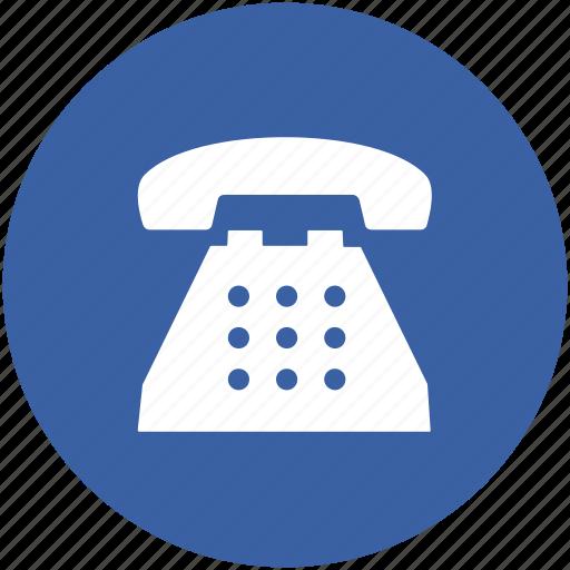landline, phone, telecommunication, telephone, telephone set, vintage telephone icon
