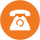landline, phone, telecommunication, telephone, telephone set, vintage telephone icon