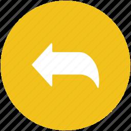 arrow, direction arrow, left, left arrow, navigation arrow icon