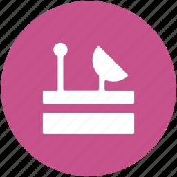 localization, radar signal, radio radar, satellite, satellite dish icon