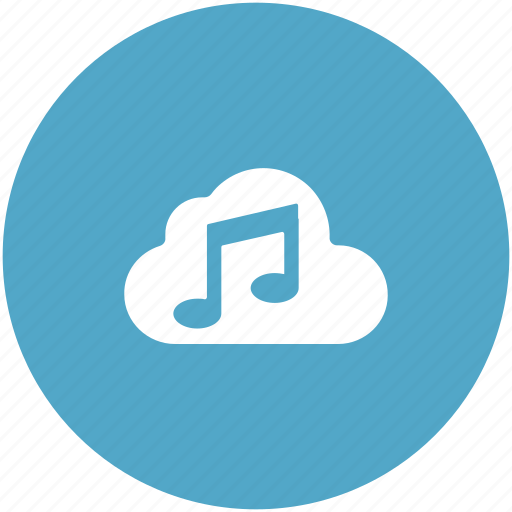 Cloud music, music note, online multimedia, online music, storage cloud icon - Download on Iconfinder