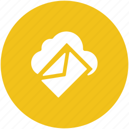 cloud correspondence, cloud email, modern technology, wireless communication, wireless mailing icon