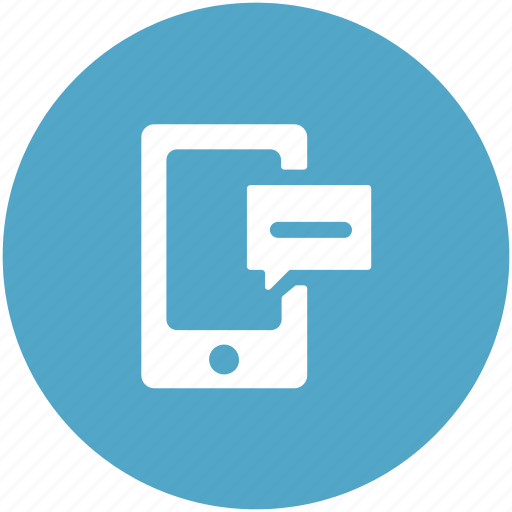 chatting, communication, mobile, mobile chatting, mobile messaging, speech bubble icon