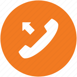call, number dialing, outgoing call, phone call, receiver icon