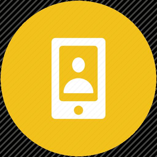 mobile, mobile app, mobile profile, video calling, video conference icon