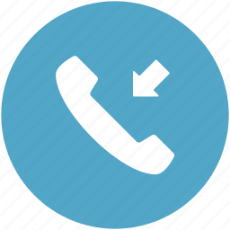 call, call received, incoming call, phone call, receiver icon