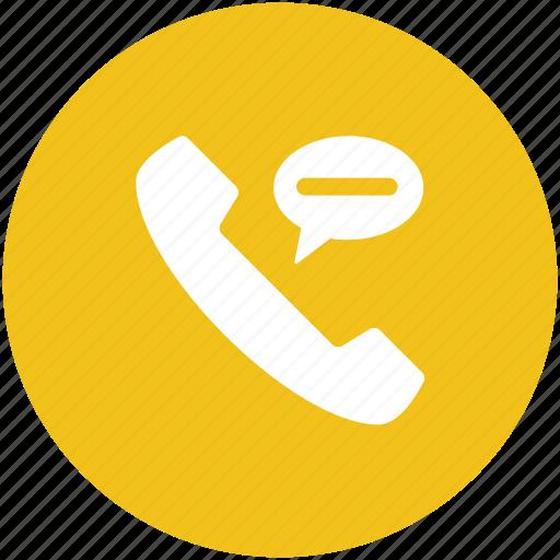 call, phone call, phone communication, phone receiver, speech bubble, telecommunication icon