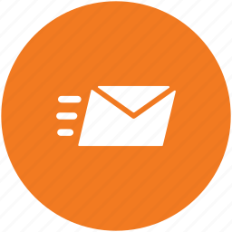 courier service, mail sent, message sending, sending email, sending mail icon