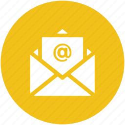 electronic correspondence, electronic mail, email, email message, inbox icon