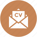 curriculum vitae, cv email, cv envelope, cv mail, envelope, inbox icon