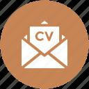 curriculum vitae, cv email, cv envelope, cv mail, envelope, inbox