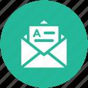 correspondence, document, email, inbox, letter, letter envelope, mail