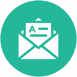 correspondence, document, email, inbox, letter, letter envelope, mail icon