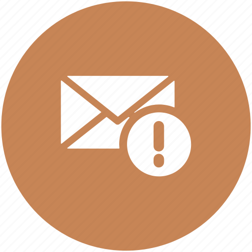 email, exclamation mark, inbox, mail error, warning mail icon