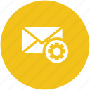 cog, email, email configuration, email setting, email settings, gear