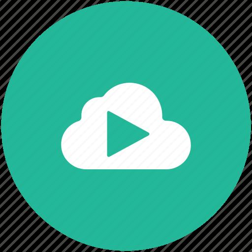 cloud computing, cloud media, cloud music, online multimedia, online videos icon