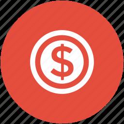 cash, currency, dollar, dollar coin, money, usd, wealth icon