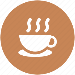 coffee cup, cup, cup with saucer, hot drink, hot tea, tea cup icon