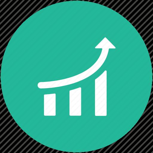 business graph, graph, growth chart, infographics, progress chart icon