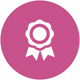 award badge, prize, reward, ribbon award, ribbon badge, winner icon