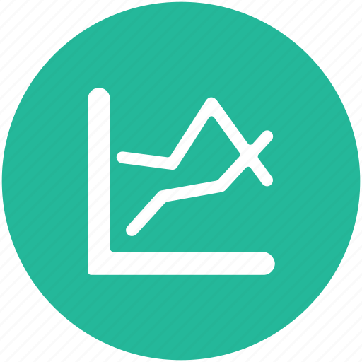 business chart, graph, graph statistics, infographics, line chart icon