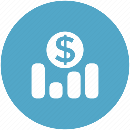 business, cash value, currency value, dollar, investment progress icon