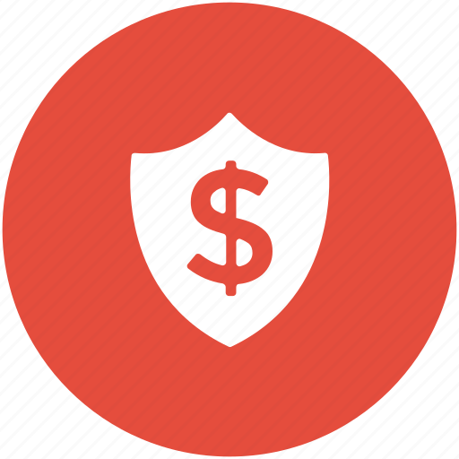 dollar, money protection, money safety, safe investment, shield icon