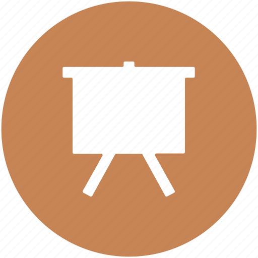chart board, easel, presentation, white board, writing board icon