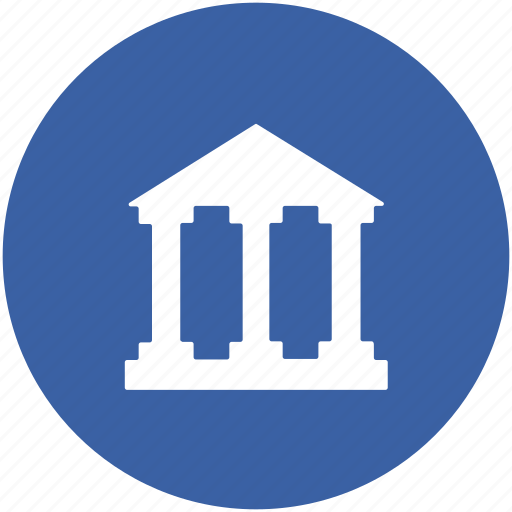 bank building, building, court, real estate, school icon