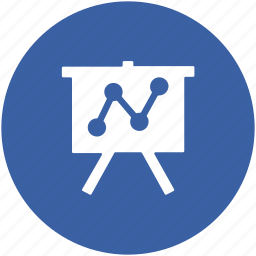 business graphs, business presentation, easel, graph presentation, whiteboard icon